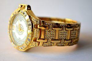 Men's Golden Diamond Watch